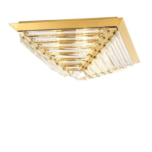 Eichholtz Ceiling Lamp Eden * Gold finish | crystal glass