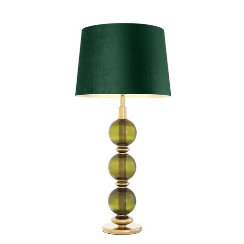 EICHHOLTZ Table Lamp Fondoro * Hand blown green glass | gold finish