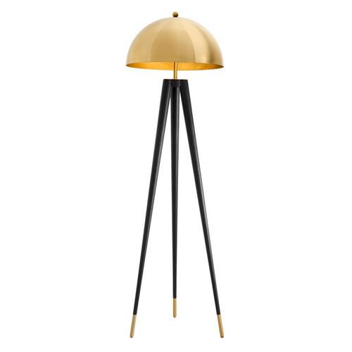 EICHHOLTZ Floor Lamp Coyote * Gold finish | black legs