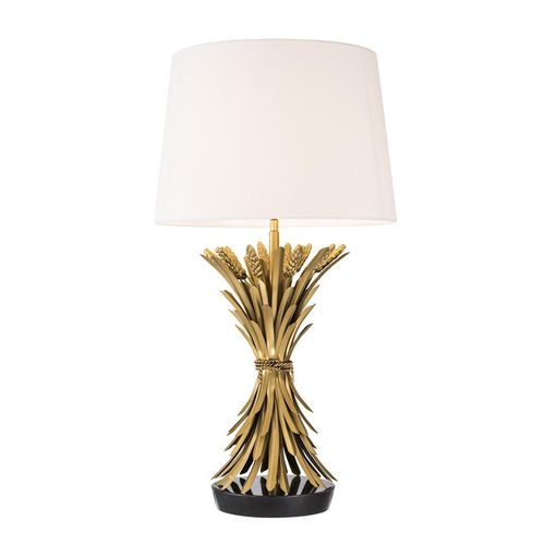 EICHHOLTZ Table Lamp Bonheur * Antique gold finish | black granite base