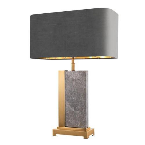 EICHHOLTZ Table Lamp Pietro * Grey marble | antique brass finish