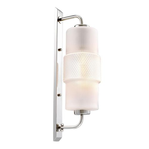 EICHHOLTZ Wall Lamp Isis * Nickel finish | white glass