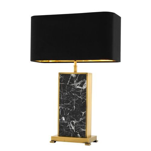 EICHHOLTZ Table Lamp Arrive * Black marble | antique brass finish