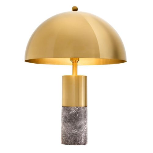 EICHHOLTZ Table Lamp Flair * Grey marble | brass finish