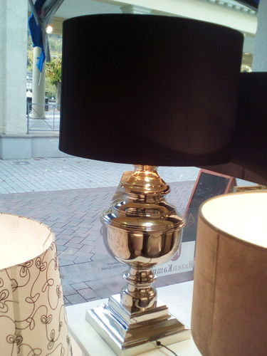 Hazenkamp * Table Lamp 59 cm + schwarz/gold Schirm 45 cm * SHOWROOM Bad Ems