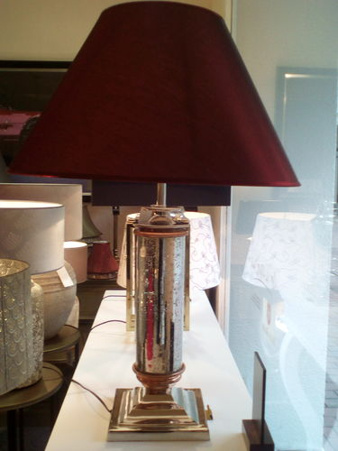 Hazenkamp * Table Lamp 60 cm + roter Schirm 60 cm * SHOWROOM Bad Ems