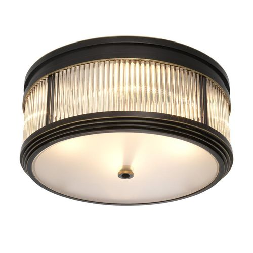 Eichholtz Ceiling Lamp Rousseau * bronze highlight finish | clear glass | frosted glass