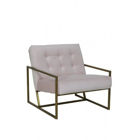Light & Living Stuhl 71x81x70 cm GENEVE samt hell pink+gold