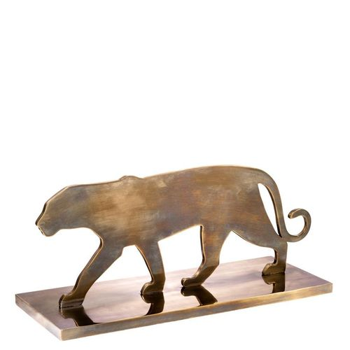 EICHHOLTZ Object Panther Silhouette * Vintage brass finish