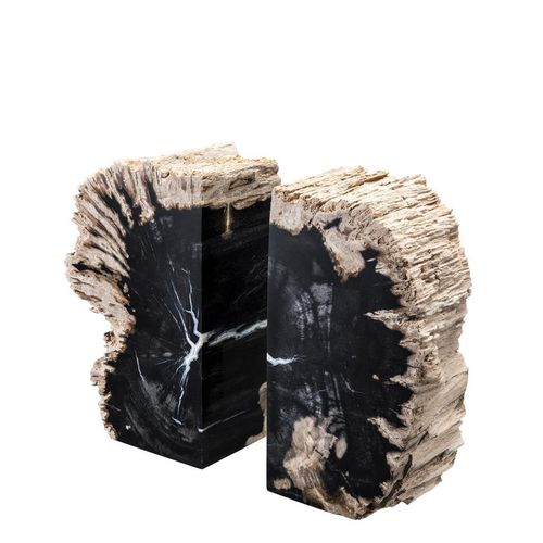EICHHOLTZ Bookend Opia * Petrified wood