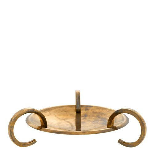 EICHHOLTZ Platter Belvair * Vintage brass finish
