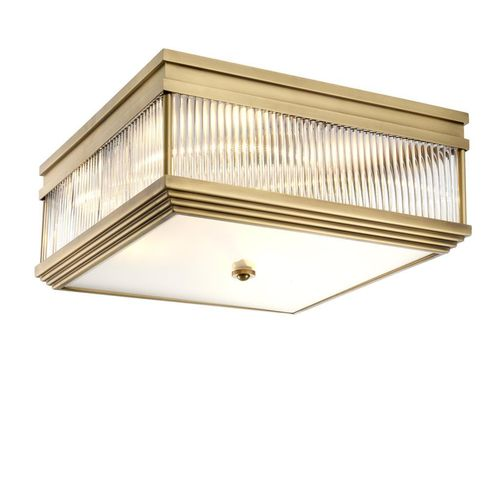 Eichholtz Ceiling Lamp Marly * Antique brass finish | clear glass | frosted glass