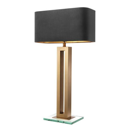 Eichholtz Table Lamp Cadogan * Antique brass finish | clear glass base