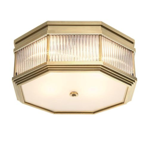 Eichholtz Ceiling Lamp Bagatelle * Antique brass finish | clear glass | frosted glass