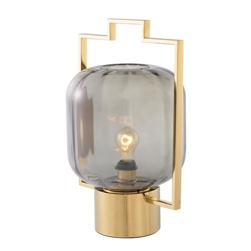 EICHHOLTZ Table Lamp Wang * Gold finish | smoke glass