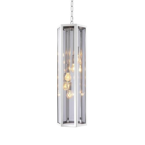 EICHHOLTZ Chandelier Rondoni * Nickel finish | smoke glass