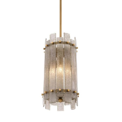 EICHHOLTZ Chandelier Da Silva * Antique brass finish | hand blown glass