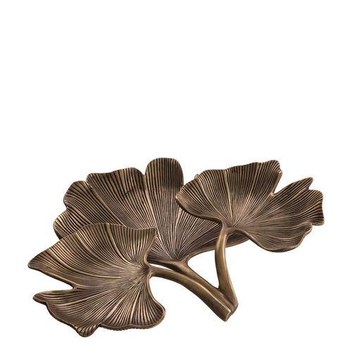 EICHHOLTZ Tray Ginkgo * Vintage brass finish