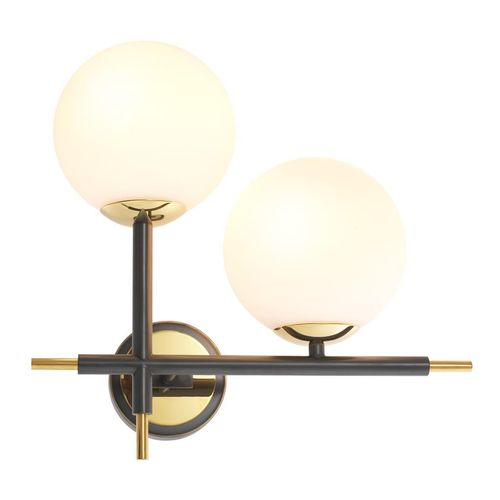 EICHHOLTZ Wall Lamp Senso Right * Gold finish | black finish | white glass