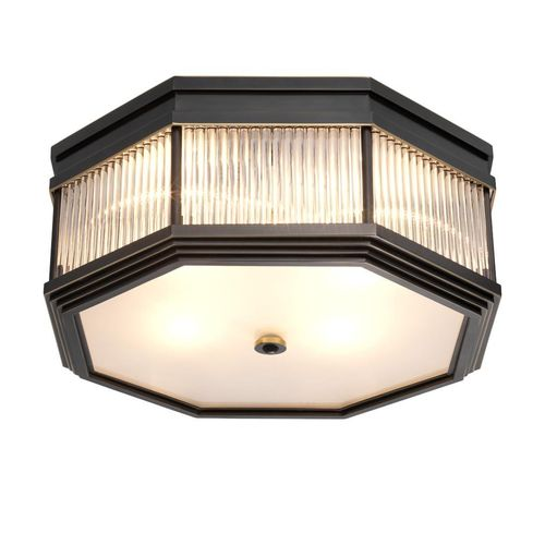 EICHHOLTZ Ceiling Lamp Bagatelle * Bronze highlight finish | clear glass | frosted glass