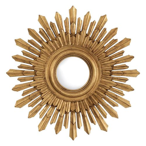 EICHHOLTZ Mirror Sol * Antique gold finish | convex mirror