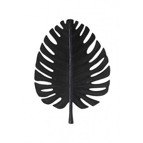 Light & Living Wand ornament 39x52 cm LEAF schwarz