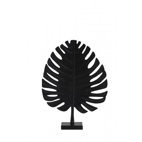 Light & Living Ornament 32x43 cm LEAF schwarz