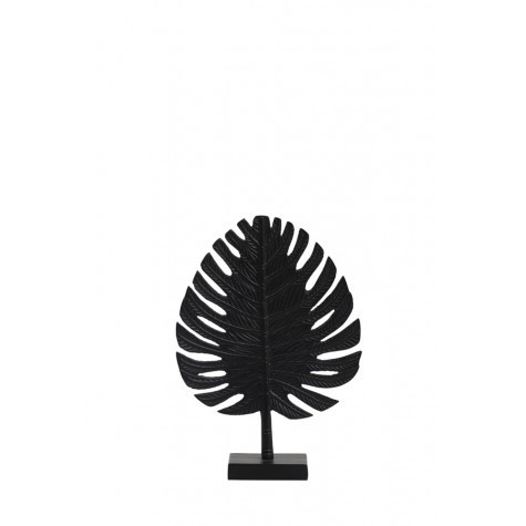Light & Living Ornament 25x35 cm LEAF schwarz