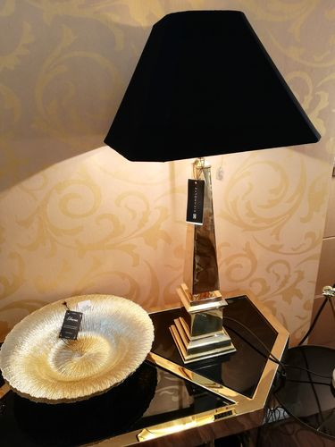 EICHHOLTZ Table Lamp San Michele * Polished brass Showroom Bad Ems