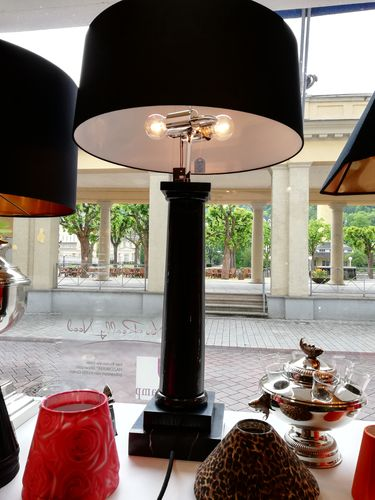 EICHHOLTZ Table Lamp Kensington * Black marble * Showroom Bad Ems