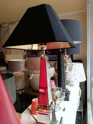 EICHHOLTZ Table Lamp San Michele * Nickel finish * Showroom Bad Ems