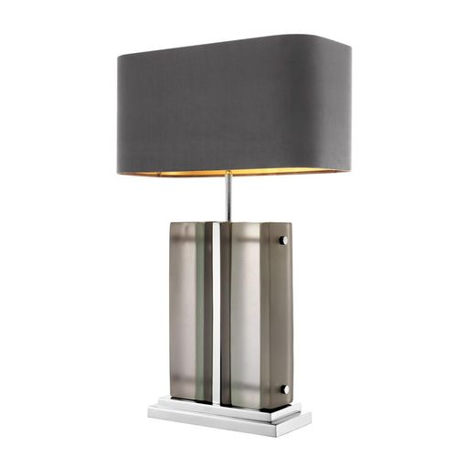 EICHHOLTZ Table Lamp Solana * Nickel finish | frosted glass