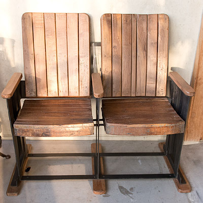 Hazenkamp * Industrial Furniture * Chair Vintage Cinema, set of 2 105x90x40