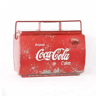Hazenkamp * Industrial Furniture * Coca Cola Box 45x23x40 cm