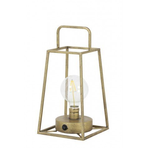 Light & Living Tischleuchte LED 15x15x30,5 cm FAUVE antik bronze+lamp