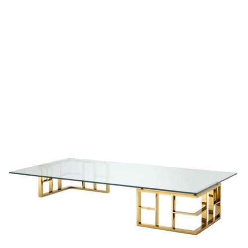 EICHHOLTZ Coffee Table Ramage * Gold finish | clear glass