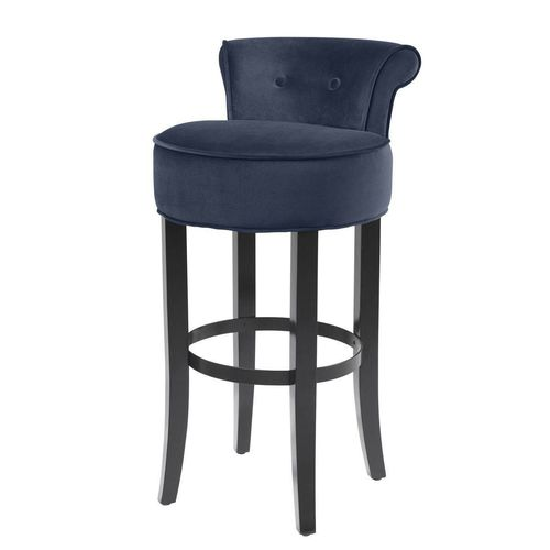 EICHHOLTZ Bar Stool Sophia Loren * Savona midnight blue velvet