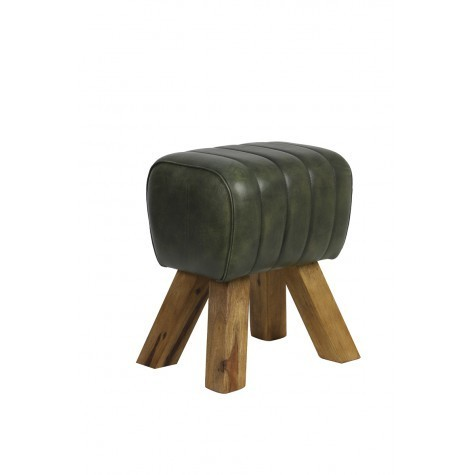 Light & Living Stool 42x35x46 cm RAMY leder grün