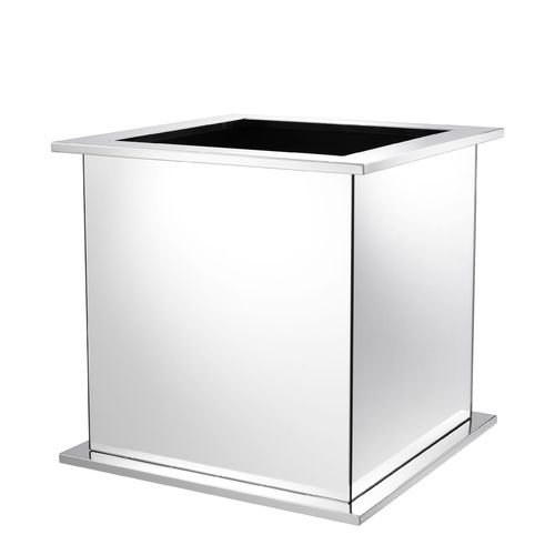 EICHHOLTZ Planter Moorea * Polished stainless steel | mirror glass