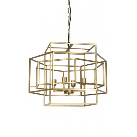 Light & Living Hängeleuchte 4L 69x64x56 cm DALISIA antik gold