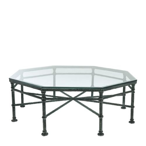 EICHHOLTZ Coffee Table Biënnale Octagon * Weathered finish | clear glass