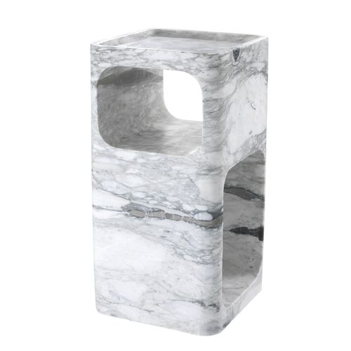 EICHHOLTZ Side Table Adler * White marble