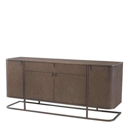 EICHHOLTZ Dresser Napa Valley * Woven oak veneer | bronze finish
