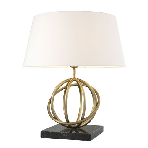 EICHHOLTZ Table Lamp Edition * Antique brass finish | granite base