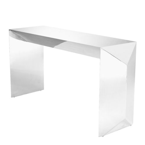 EICHHOLTZ Console Table Carlow * Polished stainless steel
