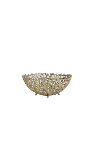 Light & Living 6323785 - Schale Ø25,5x11 cm GALAXA antik gold