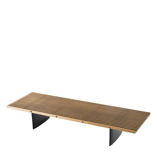 EICHHOLTZ Coffee Table Vauclair * Brushed brass finish | black finish
