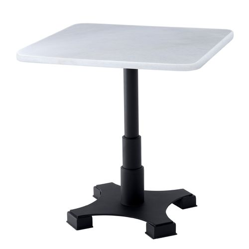 EICHHOLTZ Dining Table Mercier Square * Black finish | white marble