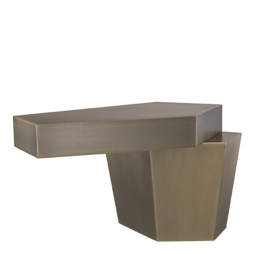 EICHHOLTZ Coffee Table Calabasas H. 45 cm * Brushed brass finish