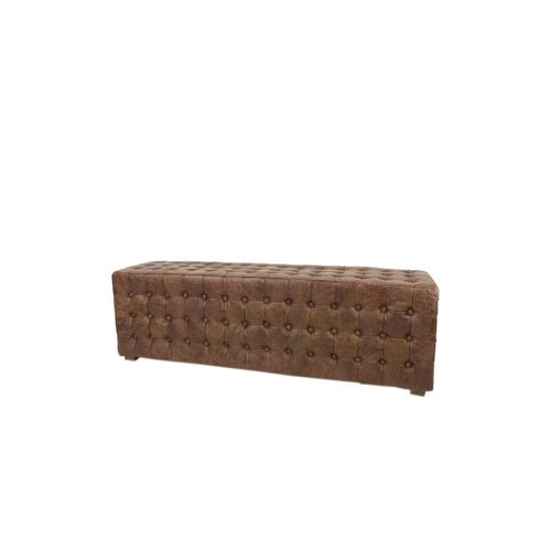 Migani LEATHER BENCH / POUF